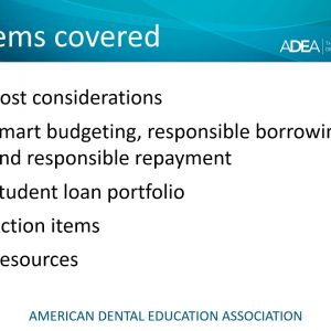 Financing Your Dental Education